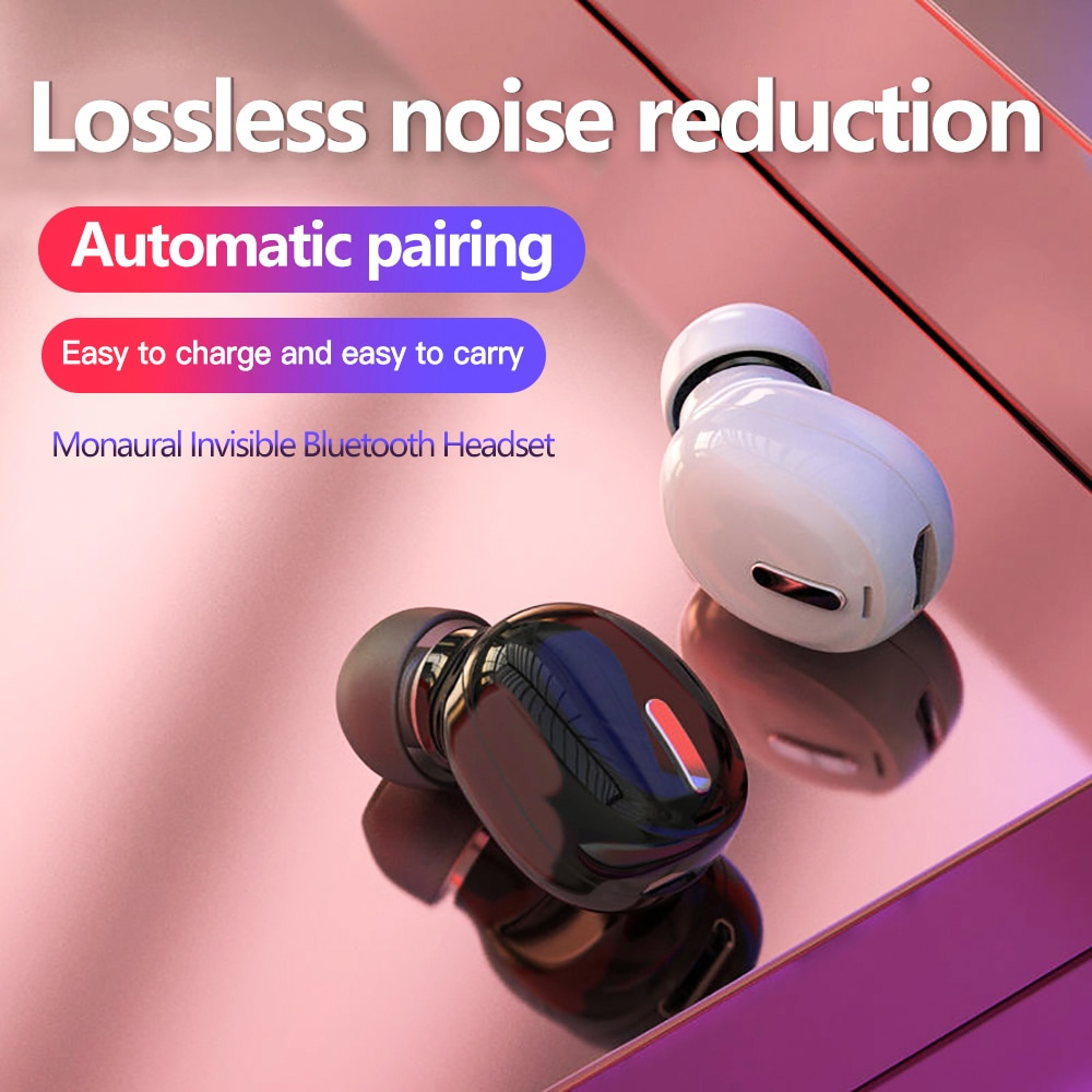 5.0 Mini Wireless Bluetooth Earphone Sport Gaming Headset with Mic Handsfree Headphone Stereo Earbuds For Iphone Samsung Xiaomi 5