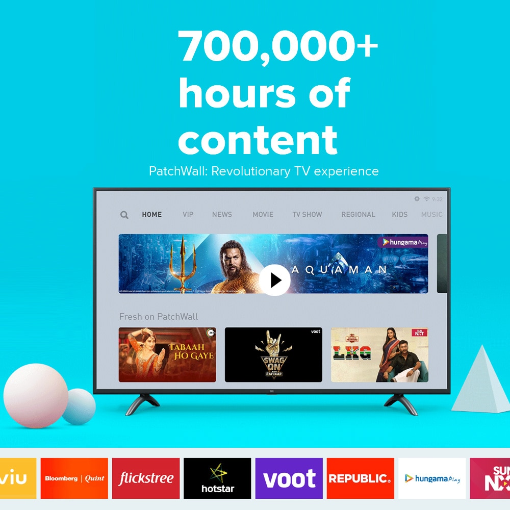 Xiaomi Mi TV 4A 32inch Television Voice Control 1GB RAM 8GB ROM LED Display WIFI BT HDR HD DTS / Dolby Audio Smart Android 9 TV 3