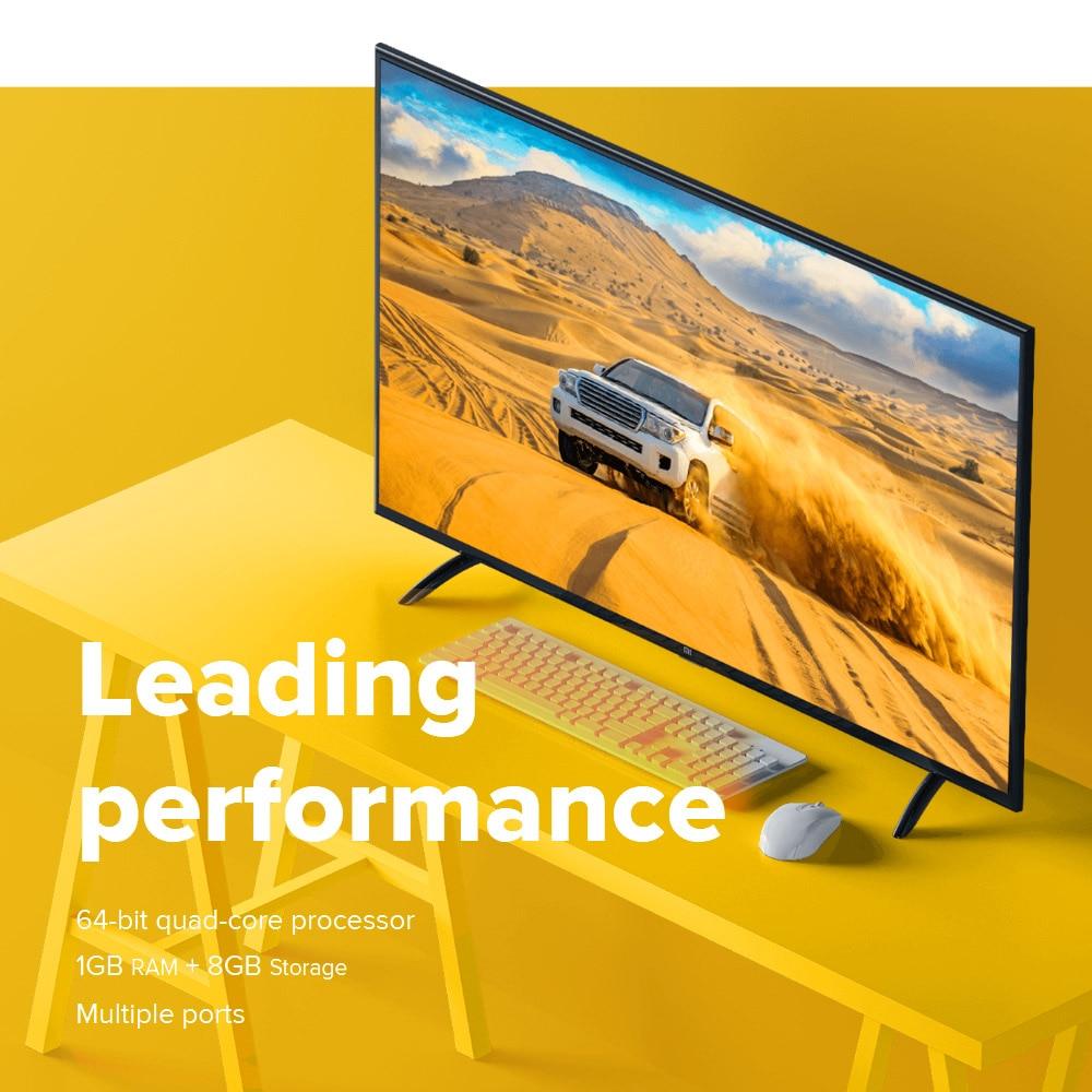 Xiaomi Mi TV 4A 32inch Television Voice Control 1GB RAM 8GB ROM LED Display WIFI BT HDR HD DTS / Dolby Audio Smart Android 9 TV 4