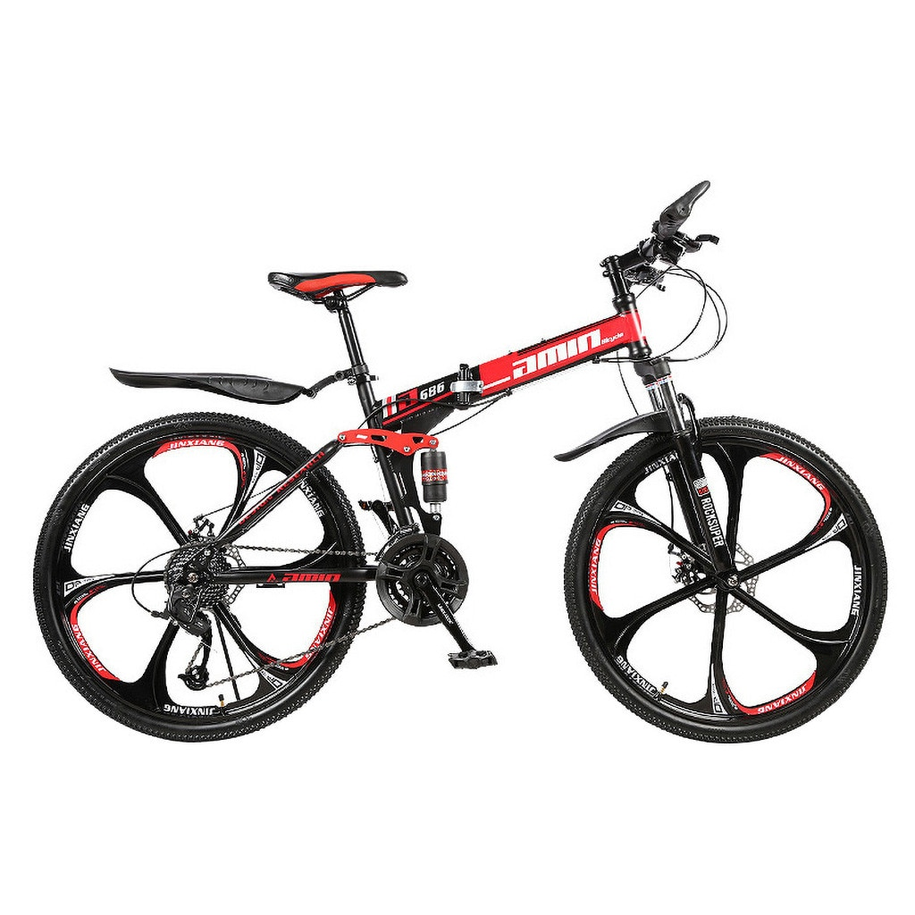 Men 26Inches Bicycle Foldable Mountain Bike 21 Speed Durable Steel Adults Bike Man Cycling sepeda lipat MTB bicicletas vtt 2020 4