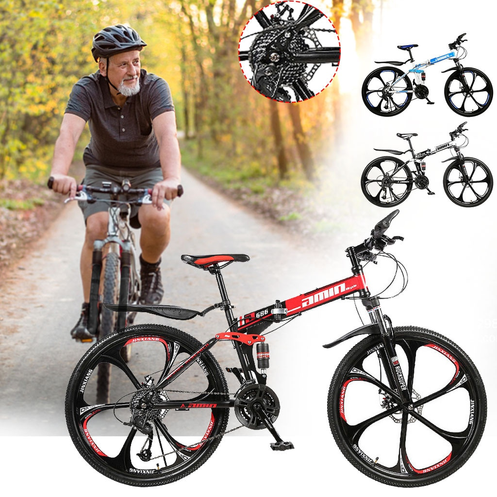 Men 26Inches Bicycle Foldable Mountain Bike 21 Speed Durable Steel Adults Bike Man Cycling sepeda lipat MTB bicicletas vtt 2020 1
