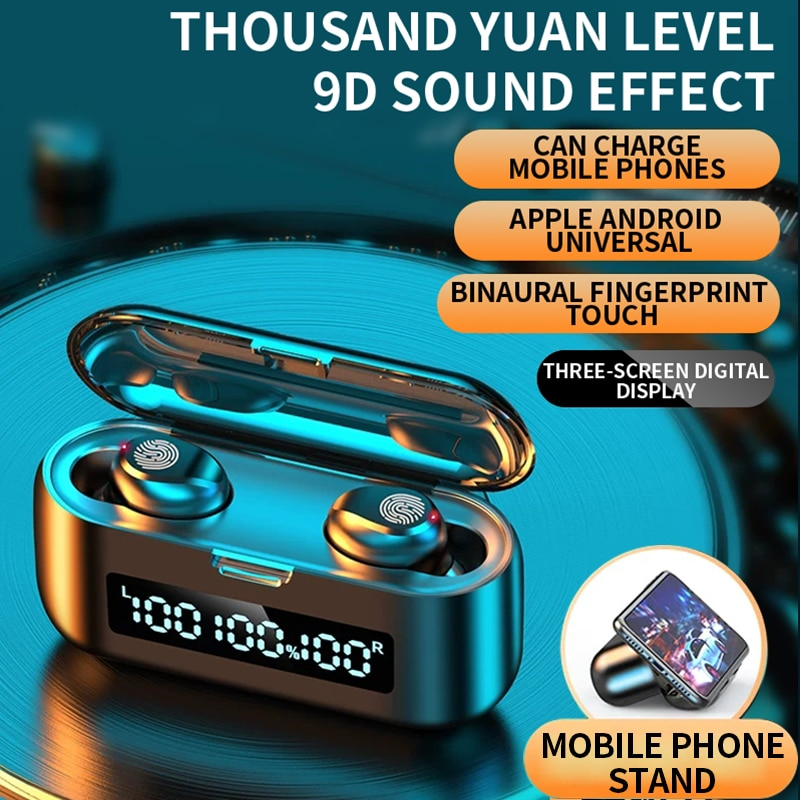 Wireless Bluetooth Headset 5.0 One Pair Of Mini Invisible Small In Ear Sports Running Super Long Standby Universal 1