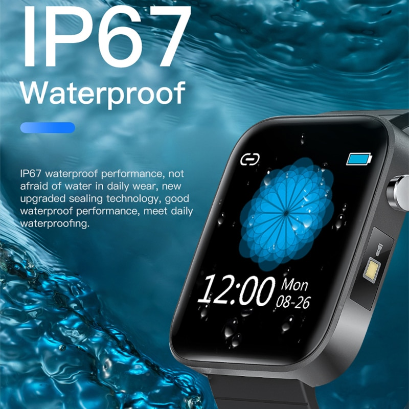 2020 NEW T68 smart watch body temperature detection ECG PPG waterproof camera weather Bluetooth sports pedometer smartwatch 4